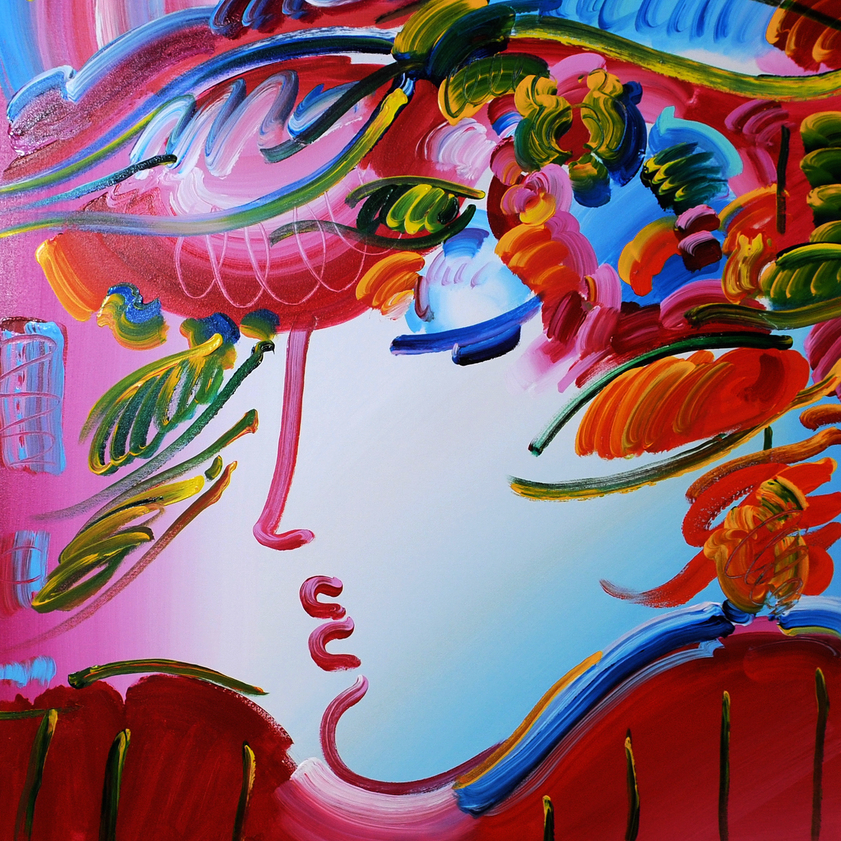 Peter Max. Beauty on Pink.
