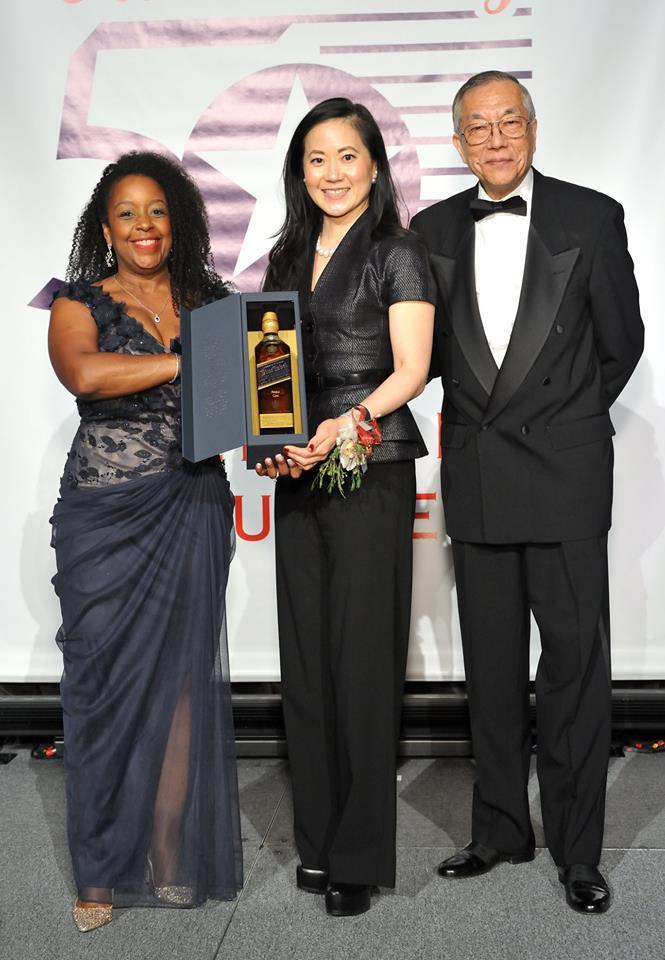 Vivek Sankaran & Angela Chao With John Wang at the 2018 Outstanding 50 Asian Americans in Business Awards Gala