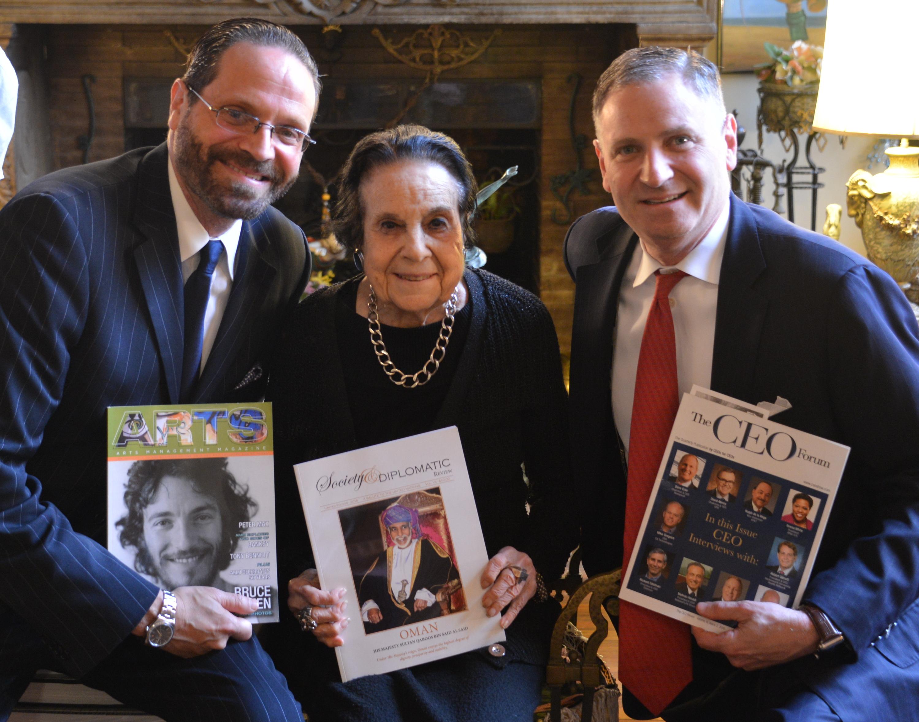 Michael Reiss & Dame Gloria Starr Kins & Robert Reiss