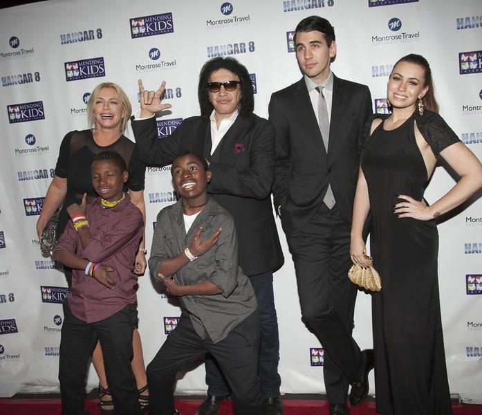 Gene Simmons & Family with Mending Kids