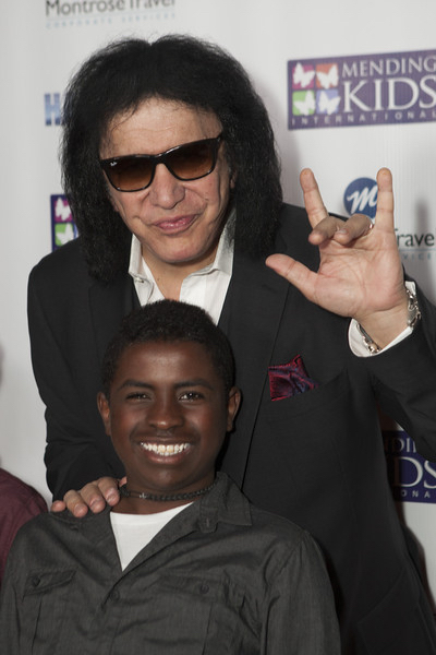 Gene Simmons with Mending Kids