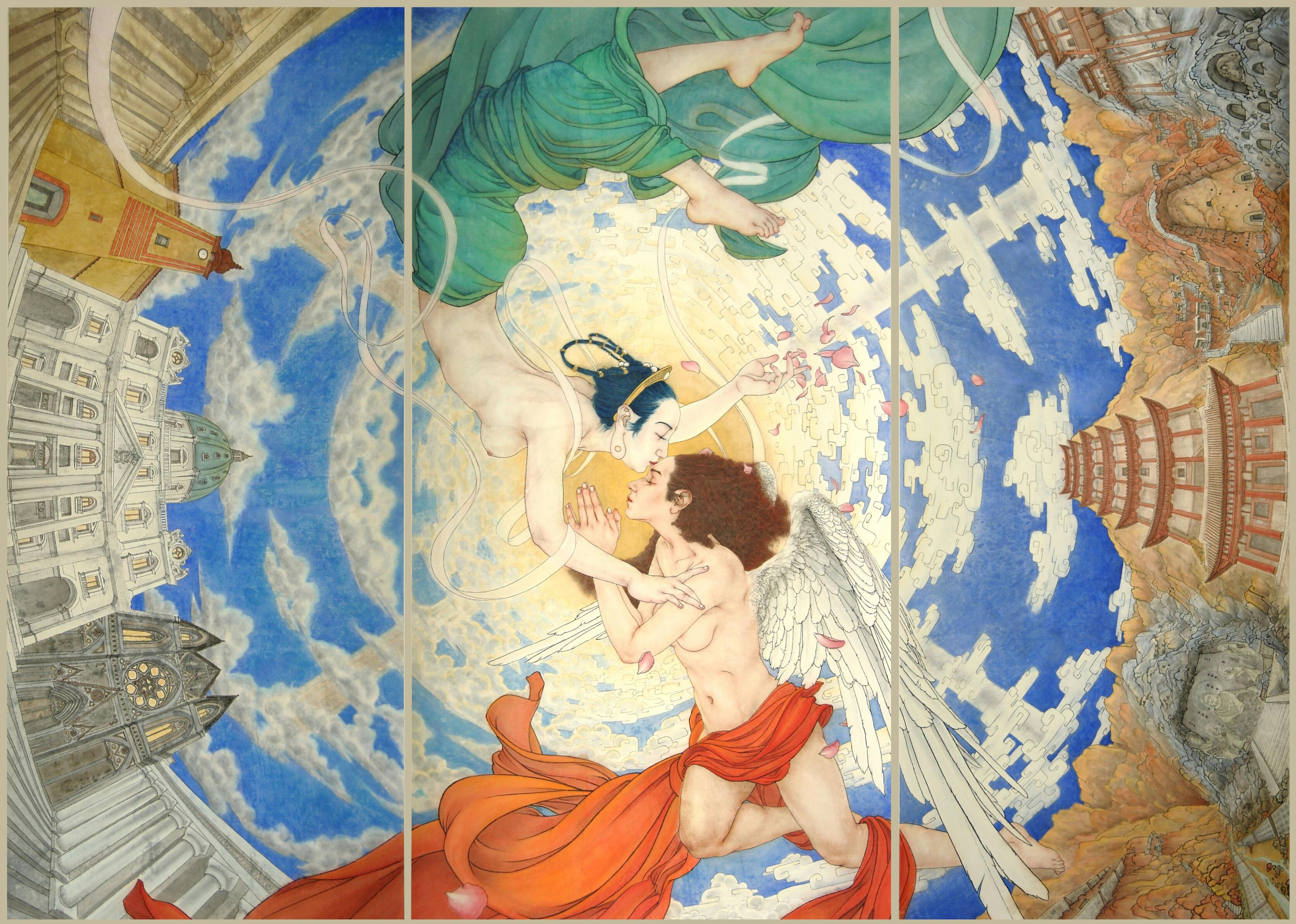 Wieslaw Borkowski, 'Dialogue between Apsara and Angel'