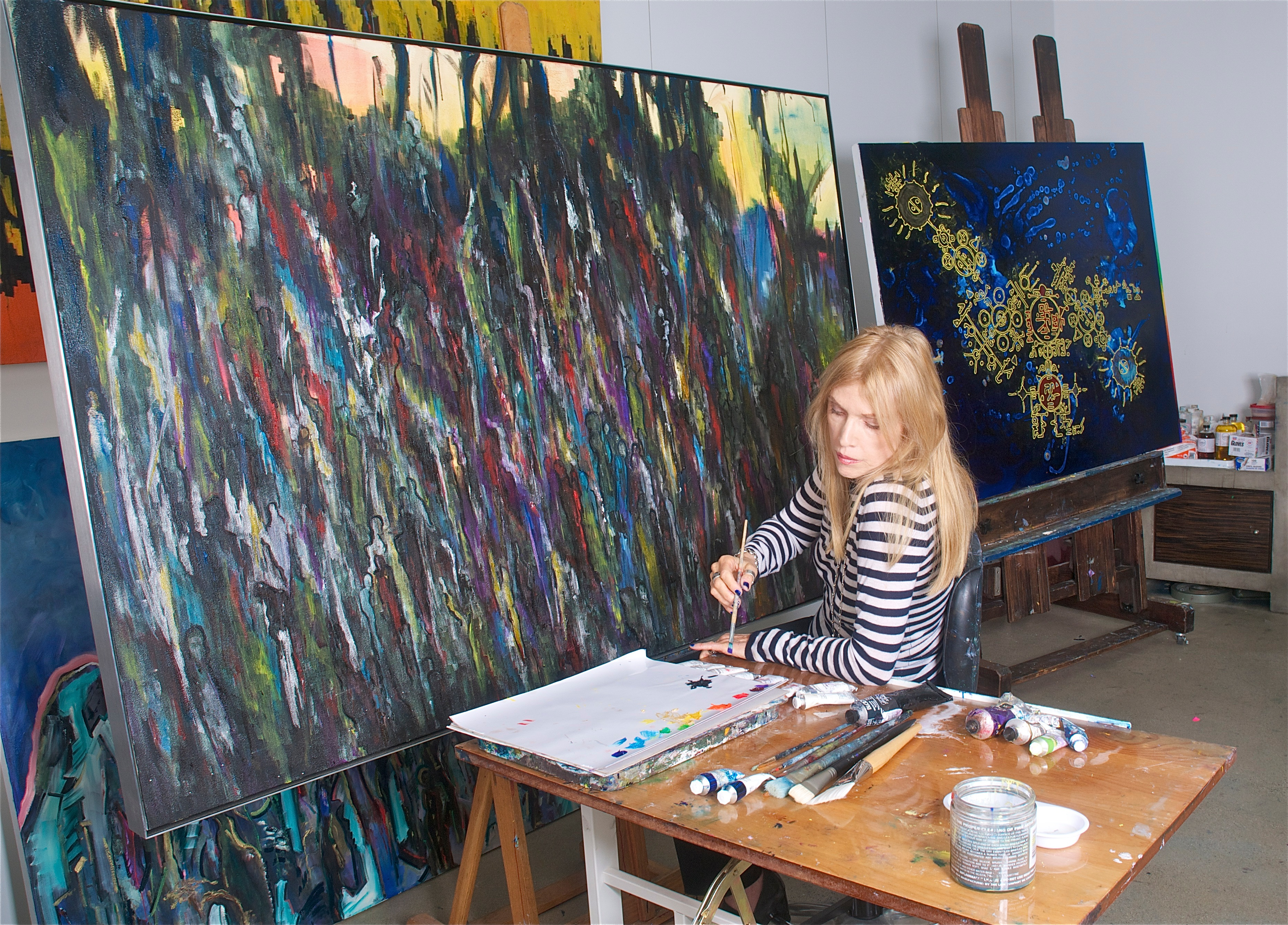 Artist Lori Hyland in Studio