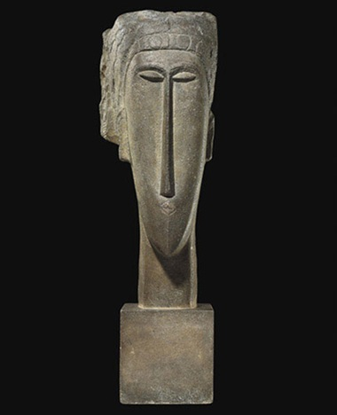 "Amedeo Modigliani, 1910-12 ""Tête"" sculpture (Christie's Paris, 2010)"